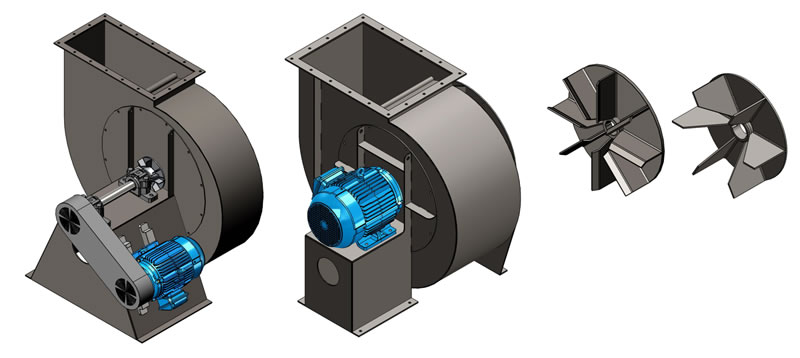 Radial Blade Industrial Fans Radial Flow Morse Air Systems